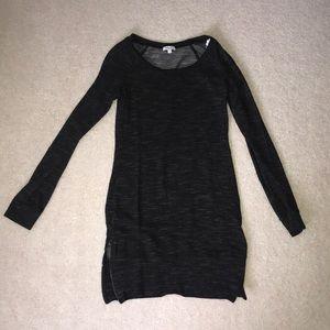 New Splendid sweatshirt dress tunic zip sides XS